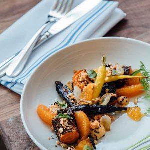Warmer Obst-Gemüse-Salat